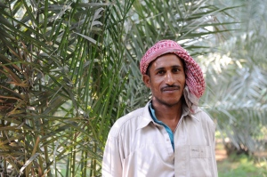 one of the gardeners working in the oasis