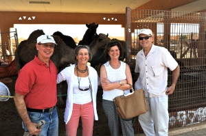 Jenny, Al, Tim and me arriving at the camel market