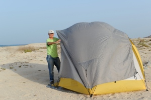 our tent on the beach