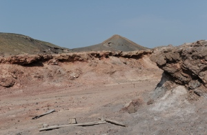 a barren landscape