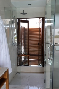 shower - often you could see fish swimming by as you showered!  Talk about an inside/outside shower