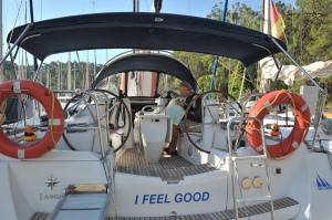 aboard I Feel Good!