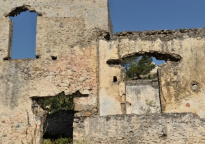 wall in ruins