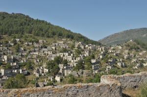an overview of the abandoned village