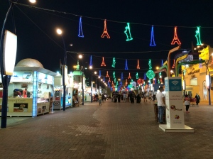 Global Village at night